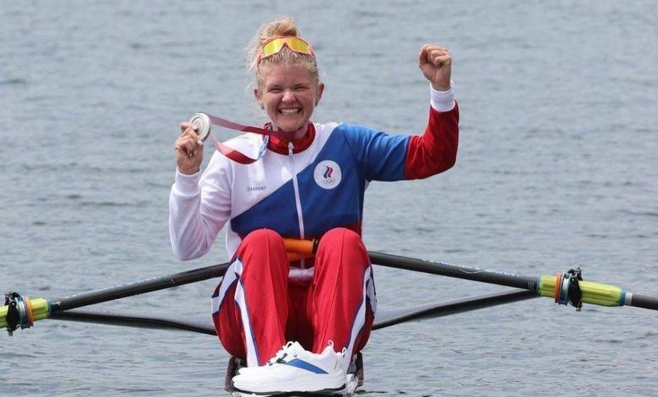 Гребчиха Анна Прокатень принесла России серебро в Токио-2020. Фото:  Комитет по физической культуре и спорту Санкт-Петербурга
