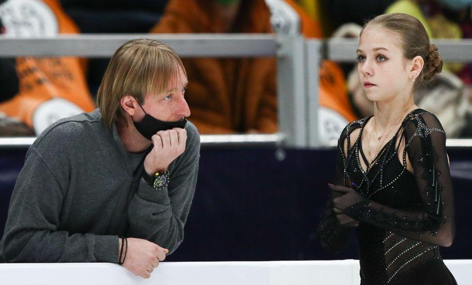 Александра Трусова успела поработать с Евгением Плющенко. Фото: ТАСС
